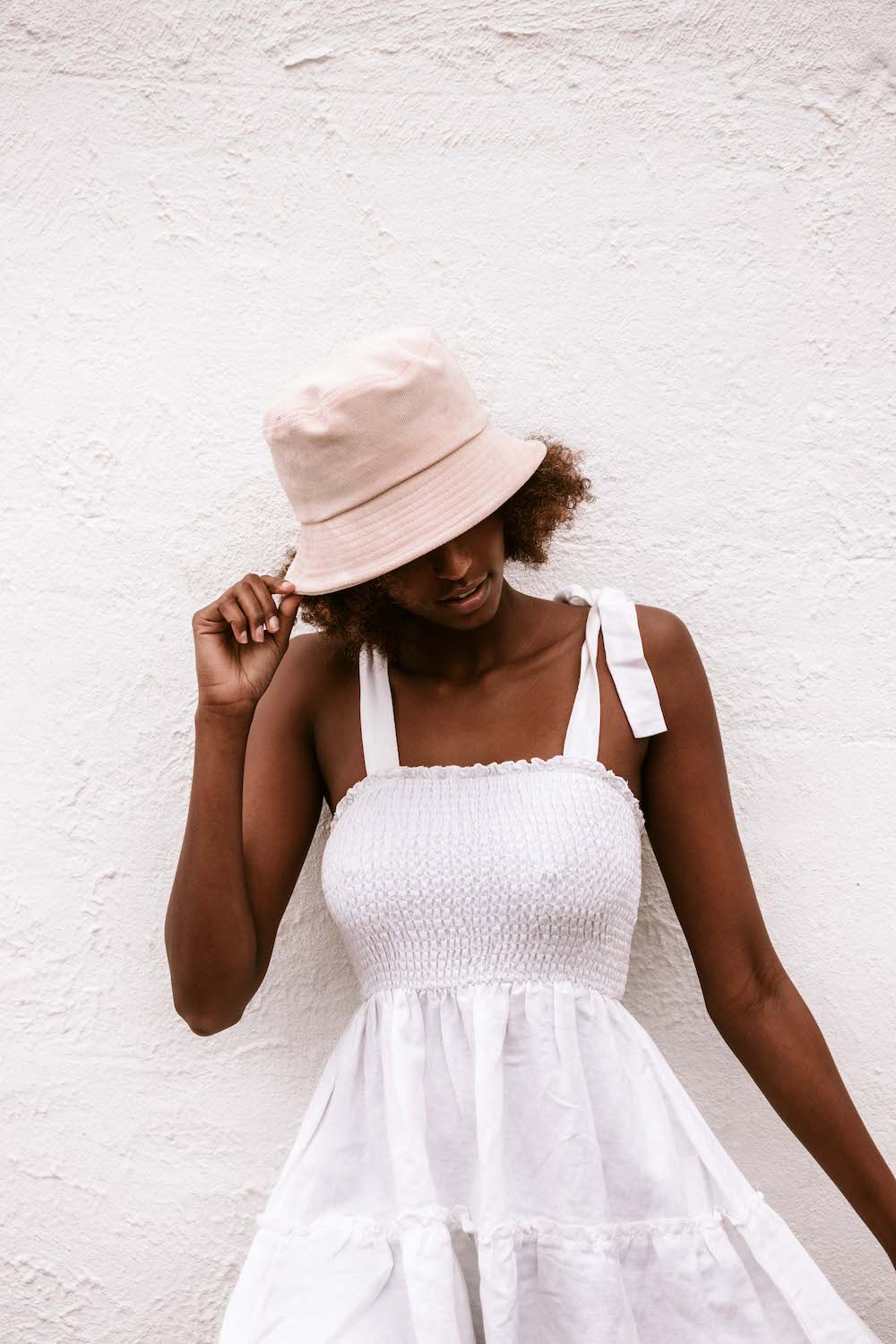 Elle Bucket Hat - Cream