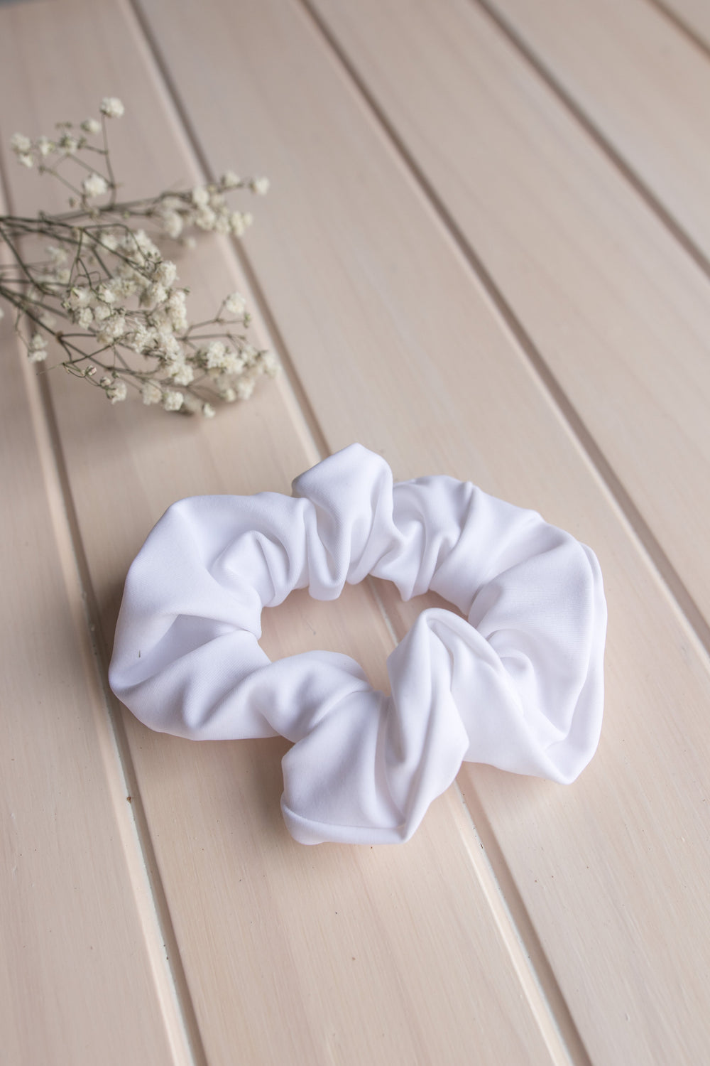Scrunchie Hair Tie - White