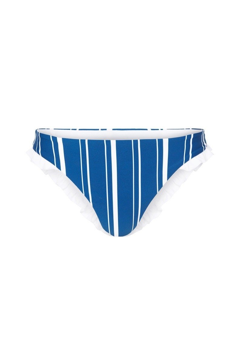 Luci Cheeky Bikini Bottoms - Navy Stripe