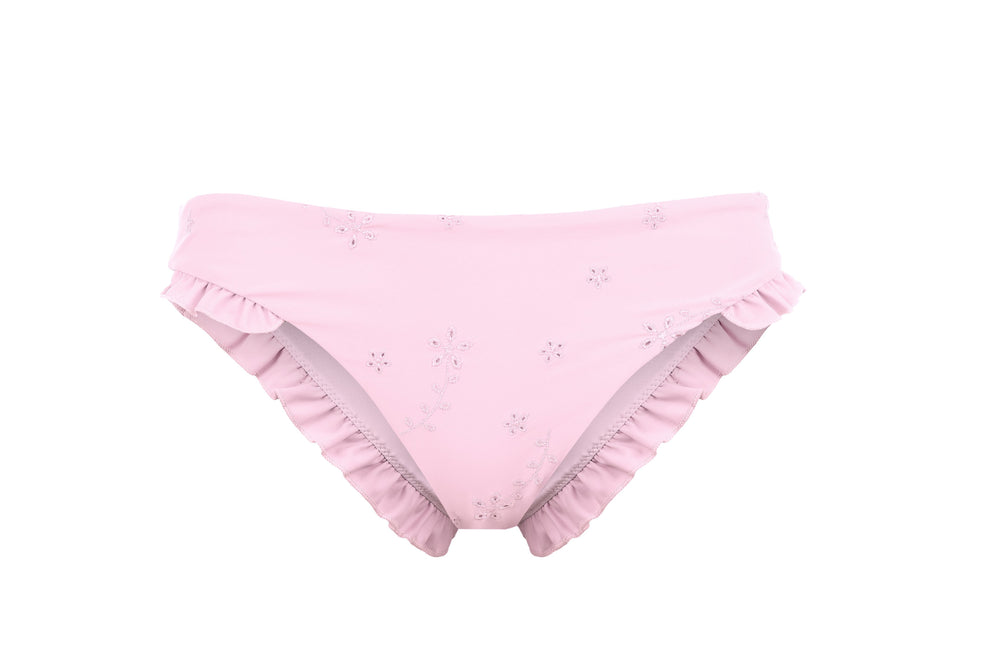 Luana Cheeky Bottoms - Blush Embroidery