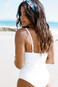 Hali one-piece swimsuit - White Embroidery