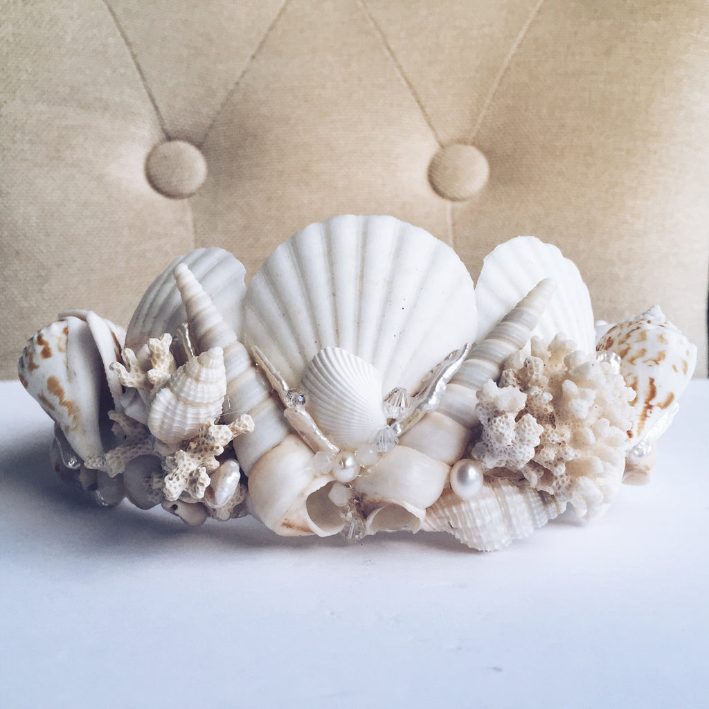 Elena Mermaid Shell Crown