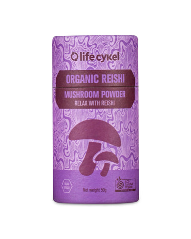 Reishi Mushroom Powder, Coffee's, Cacao's & Elixir's from Life Cykel available at Nutrition Store Online