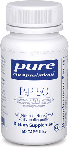 P5P 50 (activated vitamin B6) | Pure Encapsulations, Practitioner Only Products from Pure Encapsulations available at Nutrition Store Online