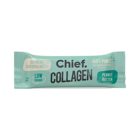 Chief Collagen Protein Bar | Peanut Butter, Collagen Bar from Chief Bar available at Nutrition Store Online