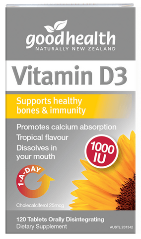 Vitamin D3 (1000iu) | Good Health - Nutrition Store Online