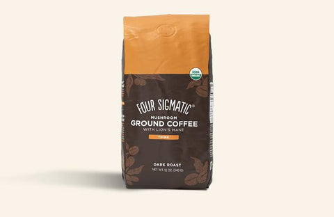 Ground Mushroom Coffee with Lion's Mane and Chaga, Coffee's, Cacao's & Elixir's from Four Sigmatic available at Nutrition Store Online