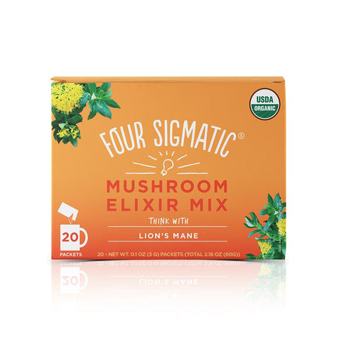 Lion's Mane Elixir, Coffee's, Cacao's & Elixir's from Four Sigmatic available at Nutrition Store Online