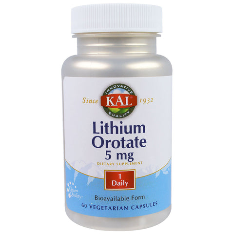 Lithium Orotate 5mg | KAL - Nutrition Store Online