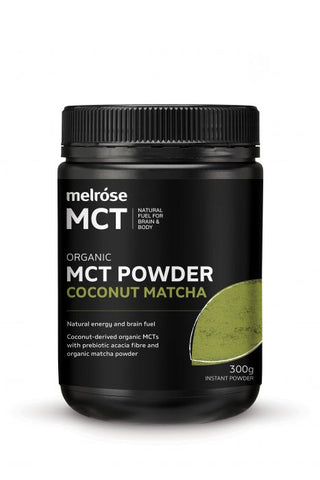 Organic MCT Powder with Coconut & Matcha, MCT from Melrose available at Nutrition Store Online