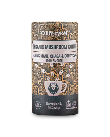 Mushroom Coffee with Lion's Mane, Chaga and Cordyceps - Nutrition Store Online