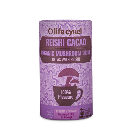 Cacao Reishi Mushroom Drink, Coffee's, Cacao's & Elixir's from Life Cykel available at Nutrition Store Online