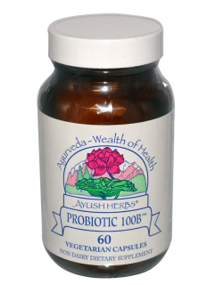 Ayush Herbs Inc., Probiotic 100B, 60 Veggie Caps