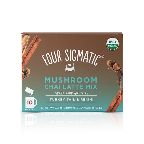 Chai Latte with Turkey Tail and Reishi, Coffee's, Cacao's & Elixir's from Four Sigmatic available at Nutrition Store Online