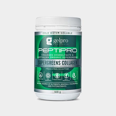 Peptipro Collagen Hydrolysate | Organic SuperGreens, Collagen from Gelpro available at Nutrition Store Online