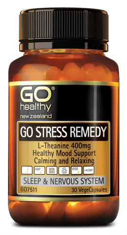 Go Stress Remedy (L-Theanine 400mg), Supplement from GO Healthy available at Nutrition Store Online