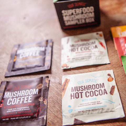 Mushroom Coffee and Cacao | Mix Box, Coffee's, Cacao's & Elixir's from Four Sigmatic available at Nutrition Store Online