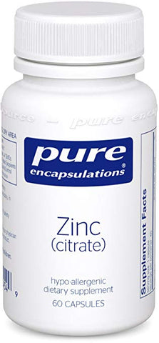 Zinc (Citrate) | Pure Encapsulations, Supplement from Pure Encapsulations available at Nutrition Store Online