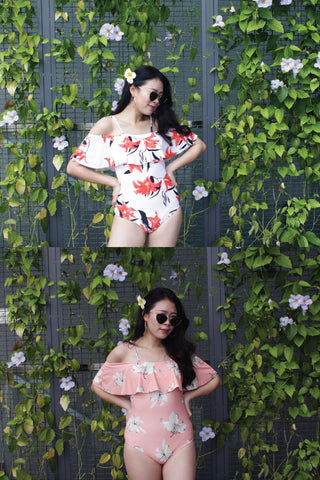 Margot Off Shoulder Swimsuits