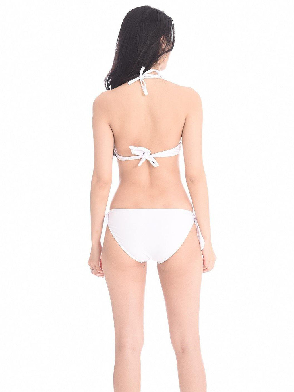White Basic Push Up Bikini - pink-n-proper