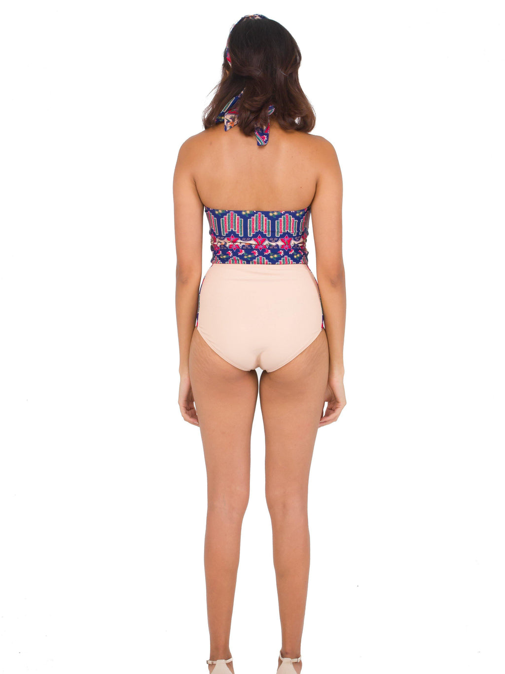 SIGNATURE BATIK Bayu Halter Cut-Out Swimsuit Mekar Nude - pink-n-proper