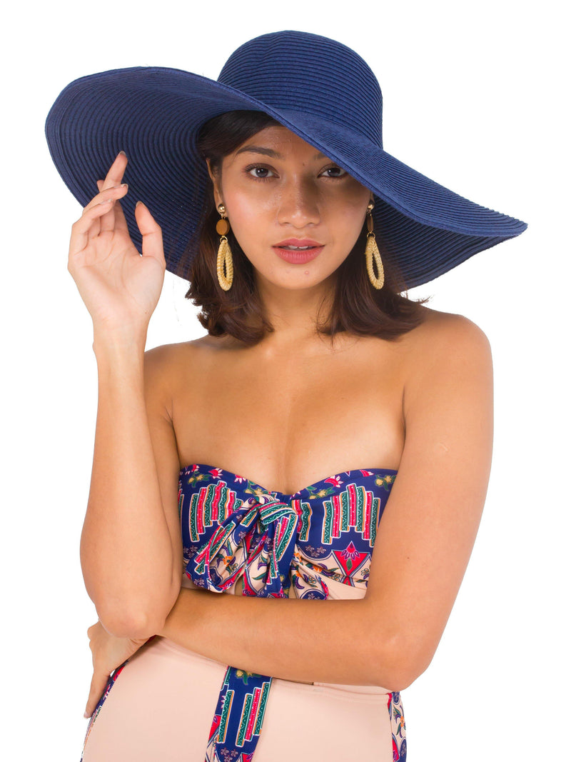 Straw Hat in Navy - pink-n-proper
