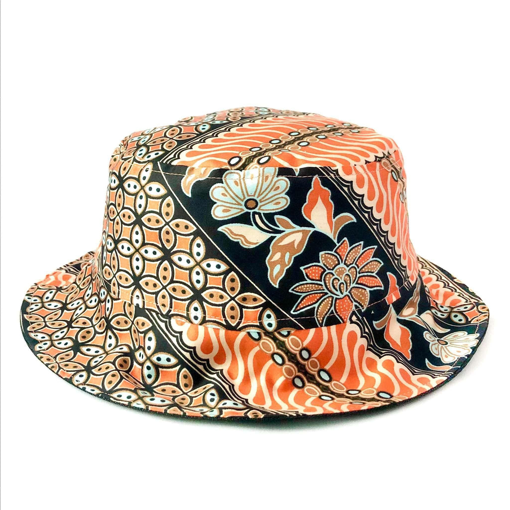 Pink N' Proper:Batik Bucket Hat in Orange