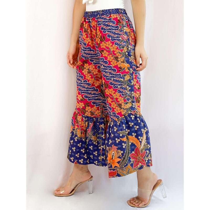Pink N' Proper:Batik Frou Pants in Blue