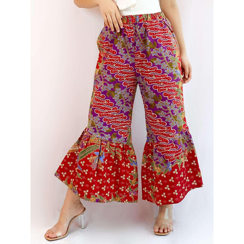 Pink N' Proper:Batik Frou Pants in Purple