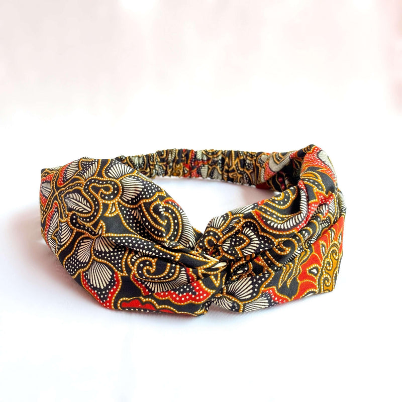 Pink N' Proper:Batik Headband in Black