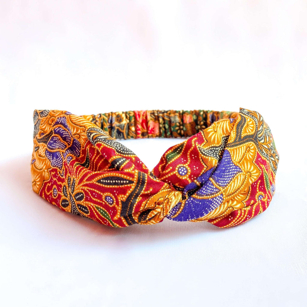 Pink N' Proper:Batik Headband in Burnt Orange