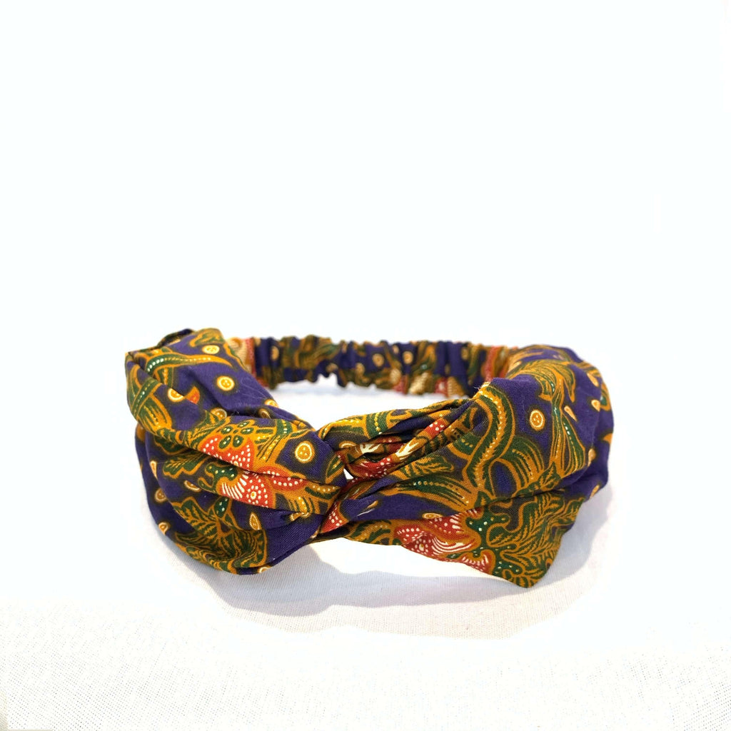Pink N' Proper:Batik Headband in Navy