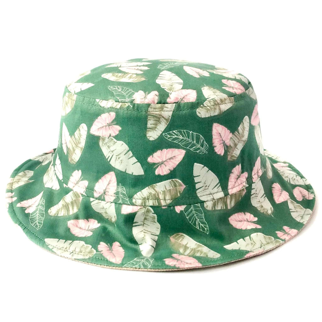 Pink N' Proper:Bucket Hat in Banana Leaves Green