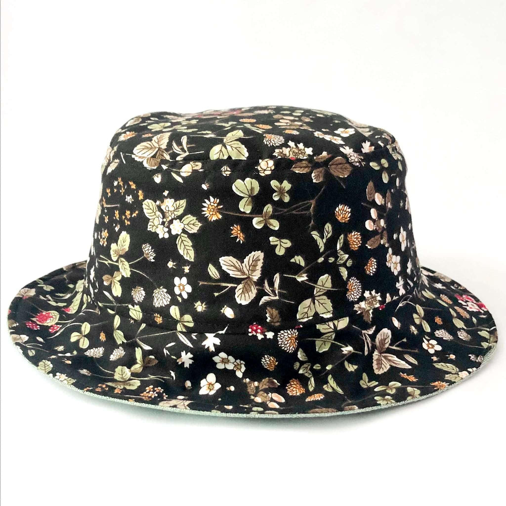 Pink N' Proper:Bucket Hat in Black Floral