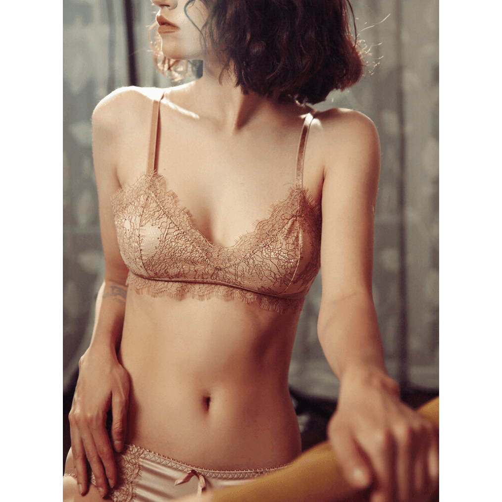 Pink N' Proper:Florentine Luxe Satin Bralette and Panty Peach Nude