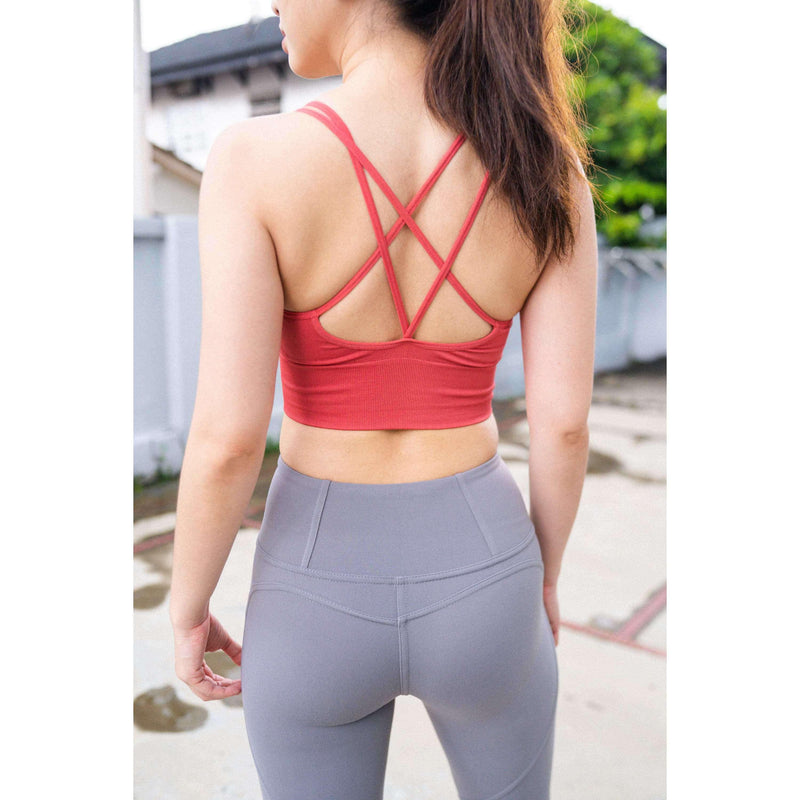 Pink N' Proper:Grips the Girls Push Up Sports Bra Raspberry Red