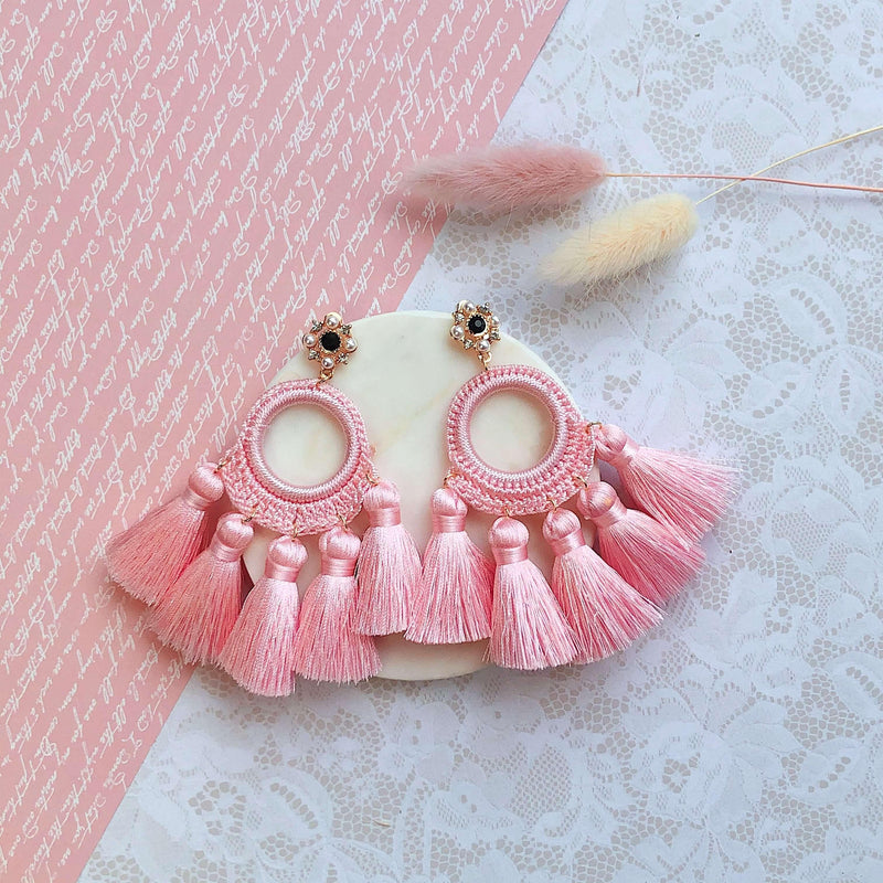 Pink N' Proper:Pink Abigail Earrings
