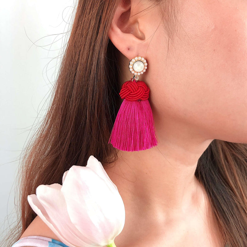 Pink N' Proper:Pink Amelia Earrings