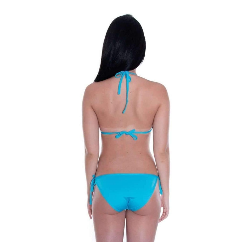 Pink N' Proper:Basic Triangle Bikini Set (Blue)