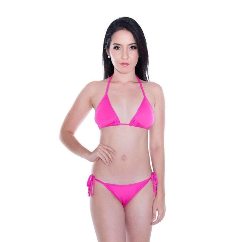 Pink N' Proper:Basic Triangle Bikini Set (Purple)