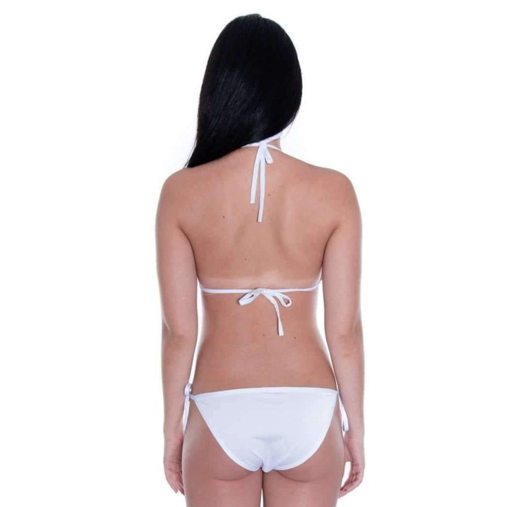 Pink N' Proper:Basic Triangle Bikini Set (White)