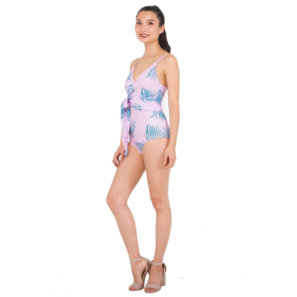 Pink N' Proper:Gia Tropical Wrap Swimsuit