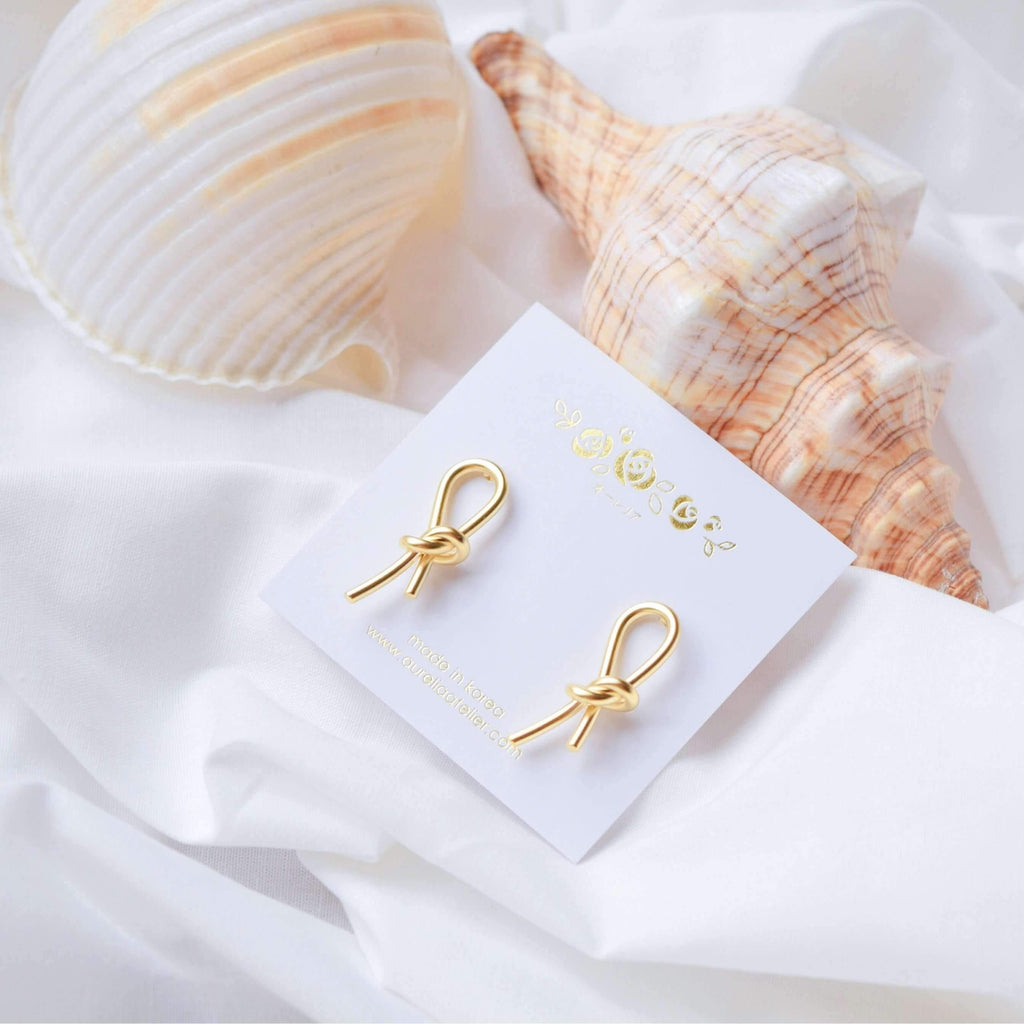 Pink N' Proper:Gold Reiis Knot Earrings