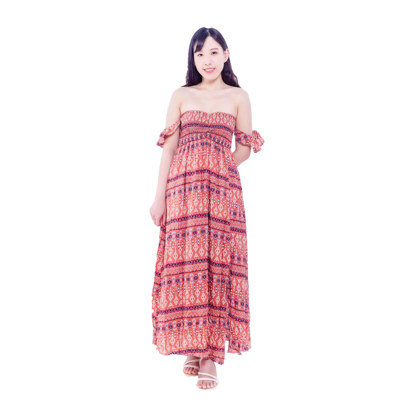 Pink N' Proper:Isabella Boho Smocked Off-Shoulder Summer Dress