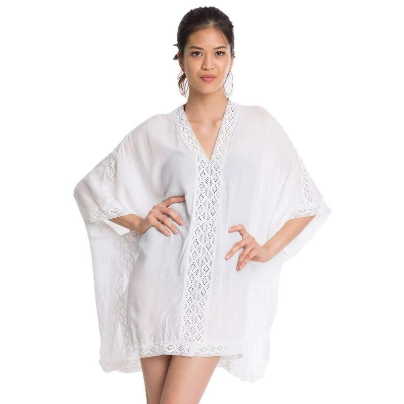 Mira Chiffon Beach Cover Up Dress White