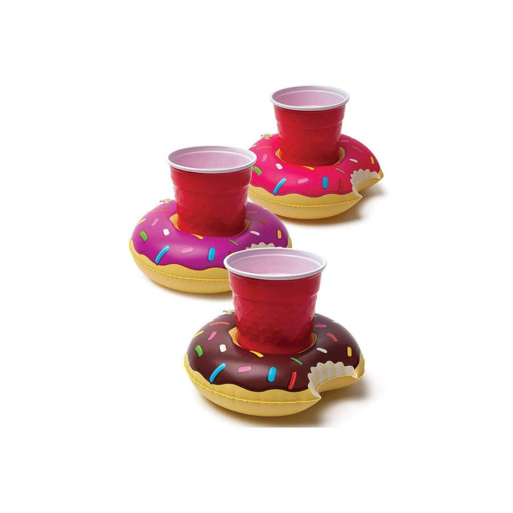 Pink N' Proper:Mini Donut Drink Holder Float Set