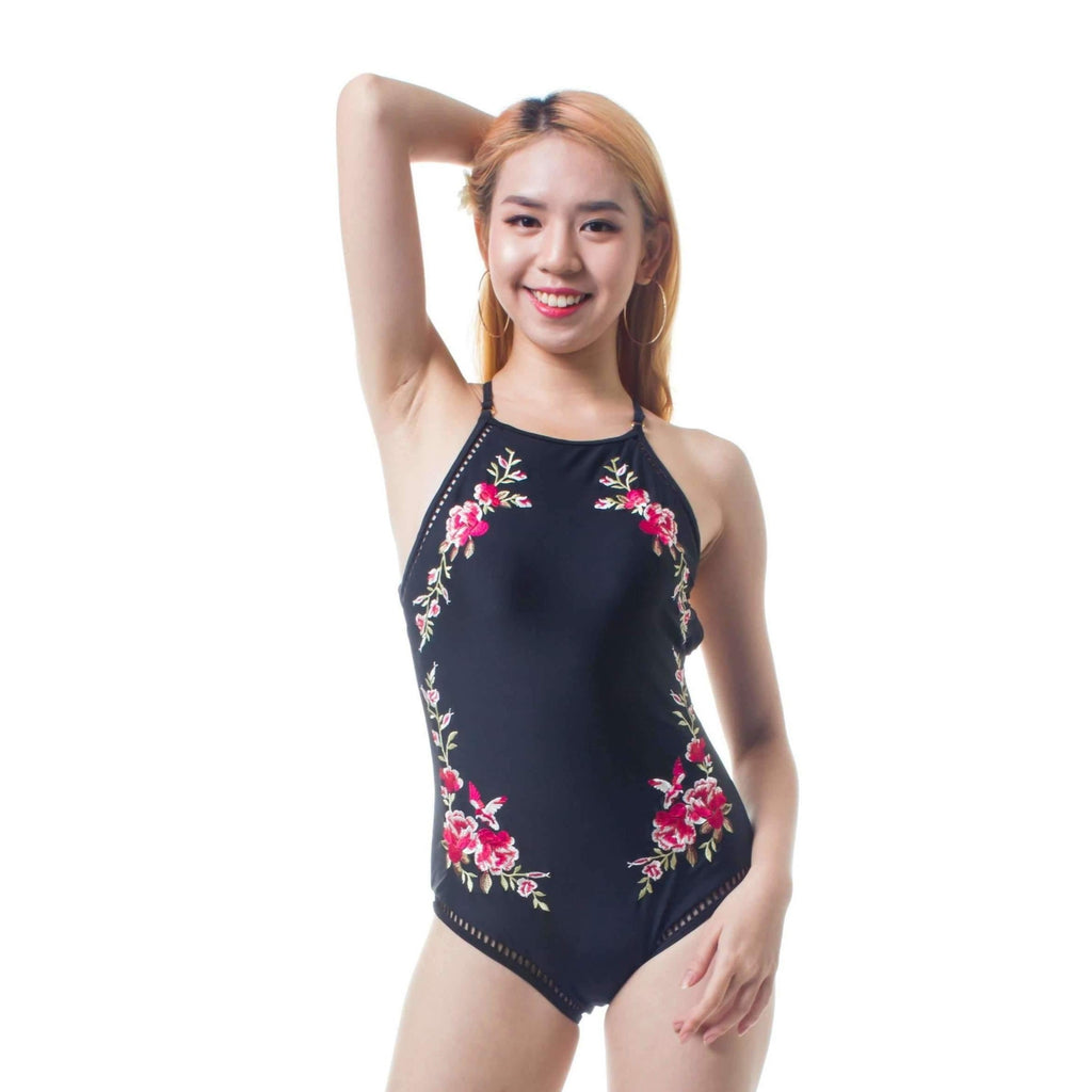 Pink N' Proper:Opulence Evelyn Floral Embroidered Monokini