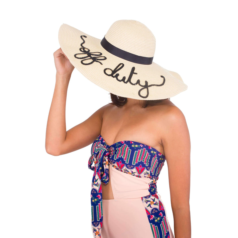 "Pink N' Proper:Pink N' Proper Exclusive ""Off Duty"" Straw Hat in Beige"