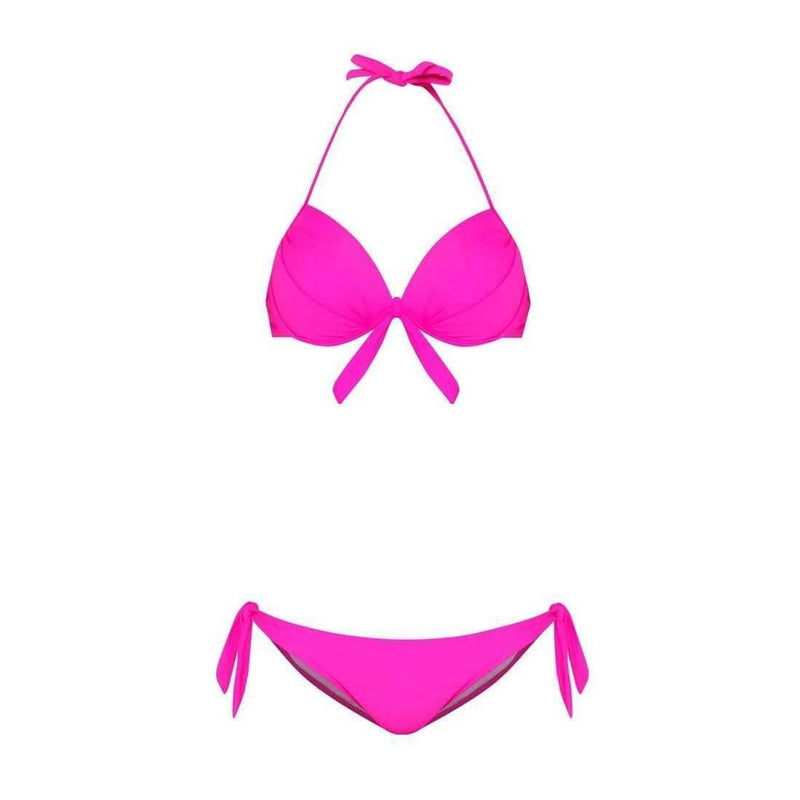 Pink N' Proper:Purple Basic Push Up Bikini