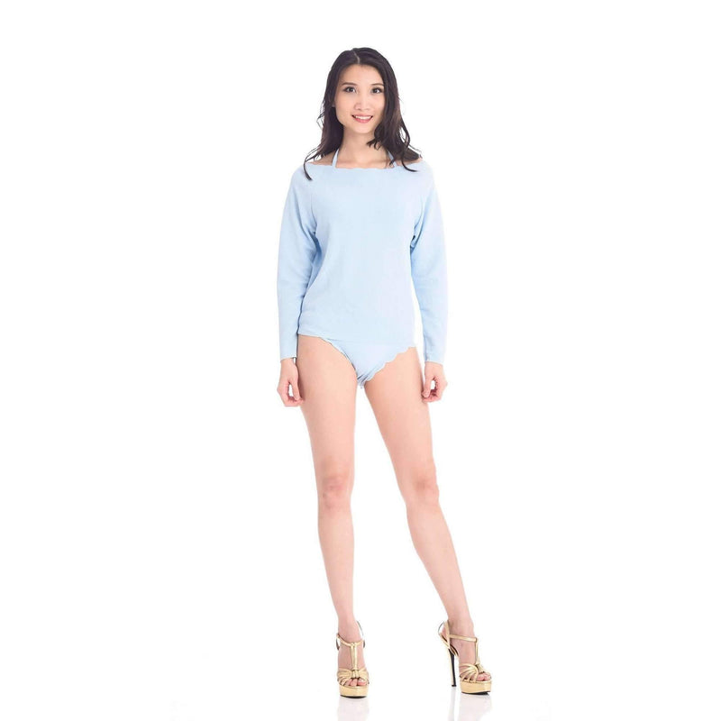 Della Long-Sleeved Swimsuit (Pink)
